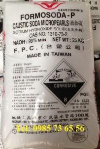 natri hydroxit đài loan, xút hạt đài loan, Caustic soda micropearls, NaOH hạt đài loan