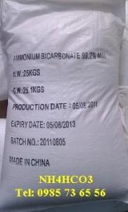 Ammonium bicarbonate, NH4HCO3