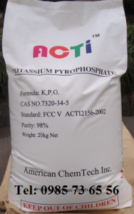 kali pyrophotphat, potassium Pyrophosphate, Tetrapotassium pyrophosphate, TKPP, K4P2O7