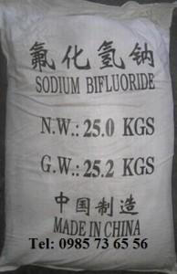 Natri biflorua, Sodium bifluoride, Sodium hydrogen fluoride, natri hydro florua, NaHF2