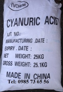 Axit xyanuric, cyanuric acid, tricarbimid, axit isoxyanuric, C3H3N3O3